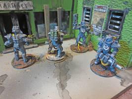Brotherhood of Steel Patrol and Propaganda by JordanGreywolf