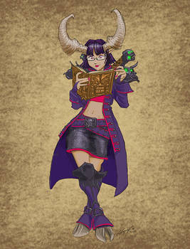 Ximena the Satyxis Pirate-Librarian
