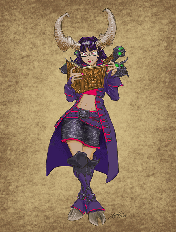 Ximena the Satyxis Pirate-Librarian by JordanGreywolf