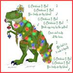 2017 Christmas Card Design - Christmas T-Rex