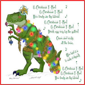 2017 Christmas Card Design - Christmas T-Rex