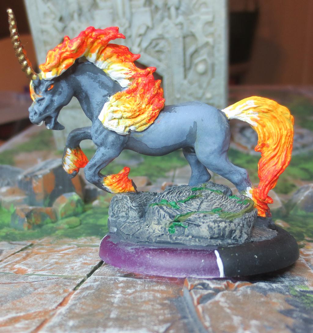 Aethon, Fire Steed by JordanGreywolf