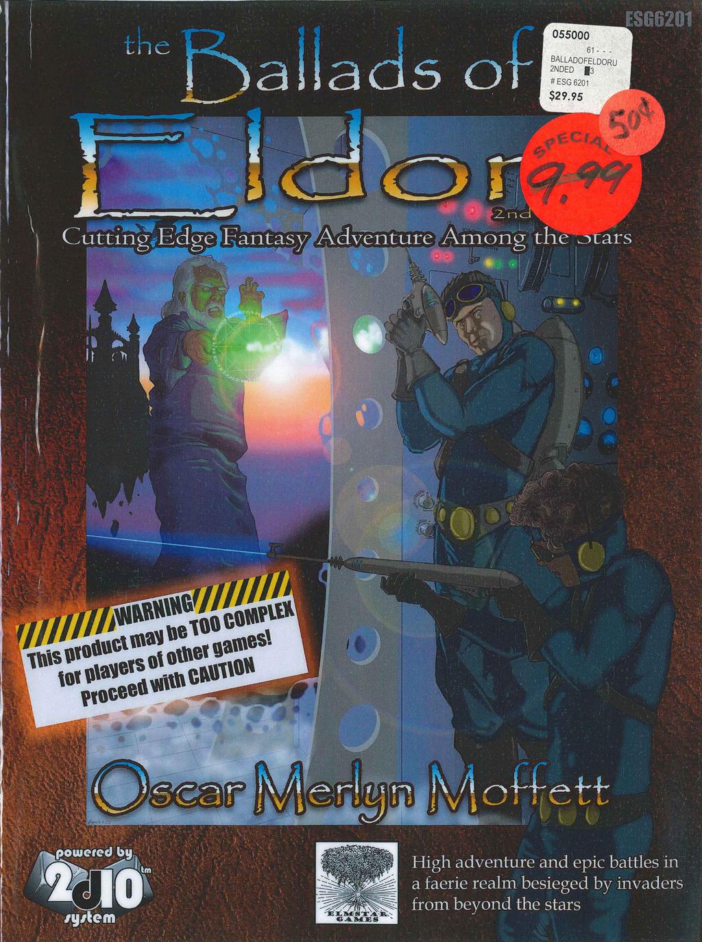 Ballads of Eldoru (2nd Ed) Cover Scan (c. 2002) by JordanGreywolf