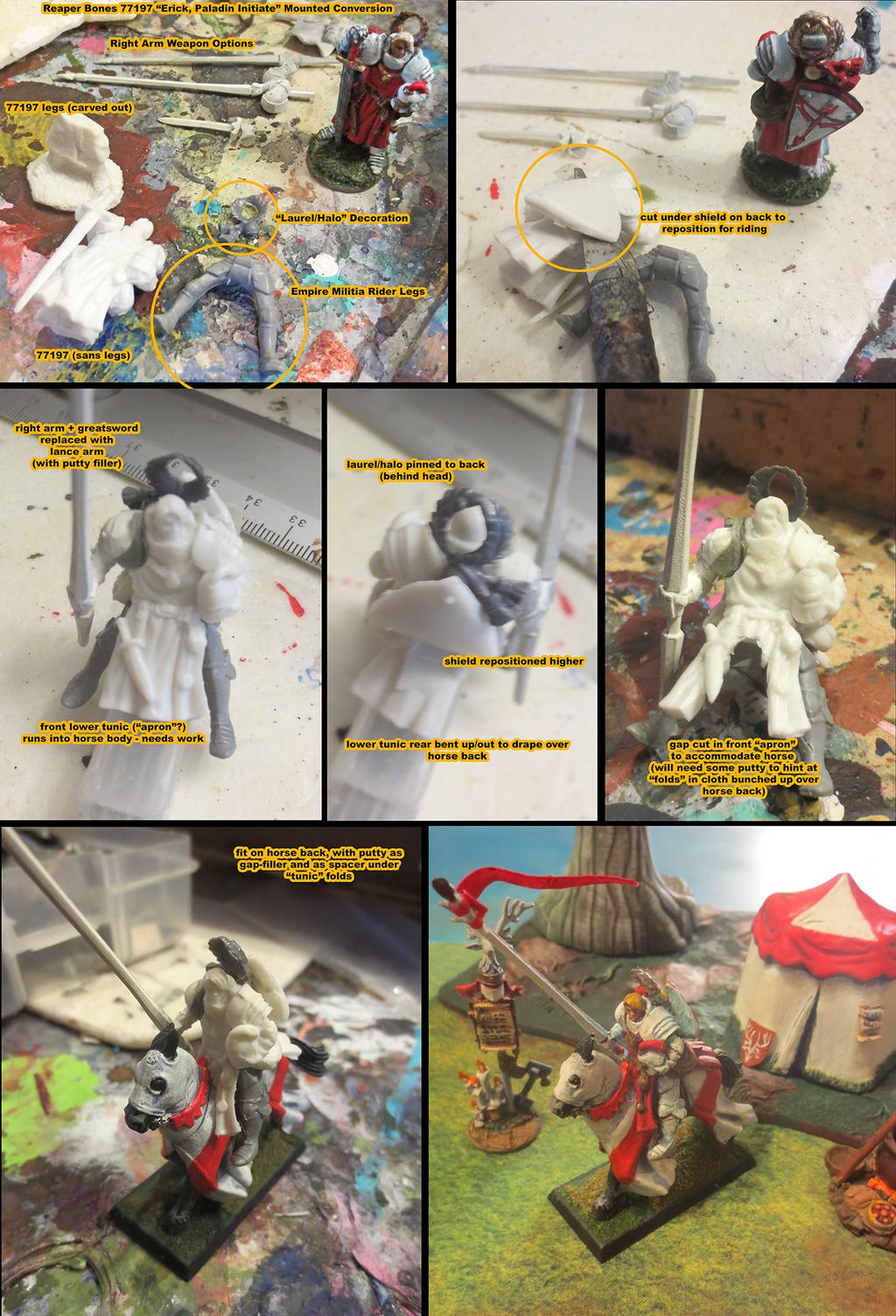 Kingmaker: Paladin Riding Model Conversion by JordanGreywolf