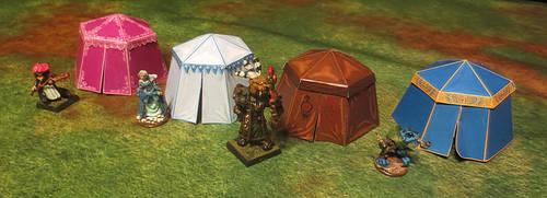 Kingmaker Papercraft Pavilion Tents