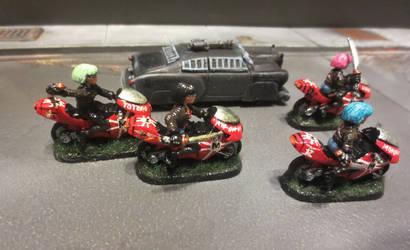Mishima Biker Gang by JordanGreywolf