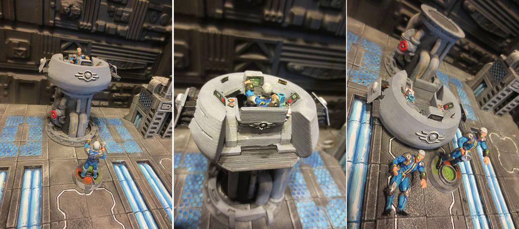 Overseer Command Center (3D Printed) by JordanGreywolf