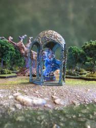 Gossamer, Air Sorceress in Verdigris Gazebo by JordanGreywolf