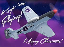 2019 Rudolph's P-51 Mustang Christmas Card