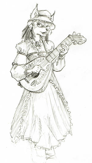 Sketch: Raynelle with Lute