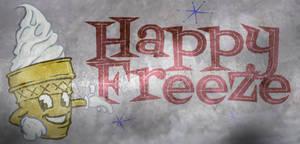 Distressed Happy Freeze Logo
