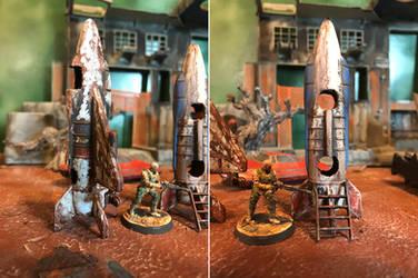 Retrofuturistic Playground Rocketships