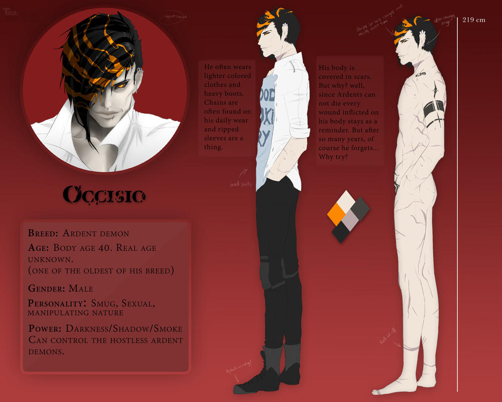 Character sheet - Occisio by Skerppla