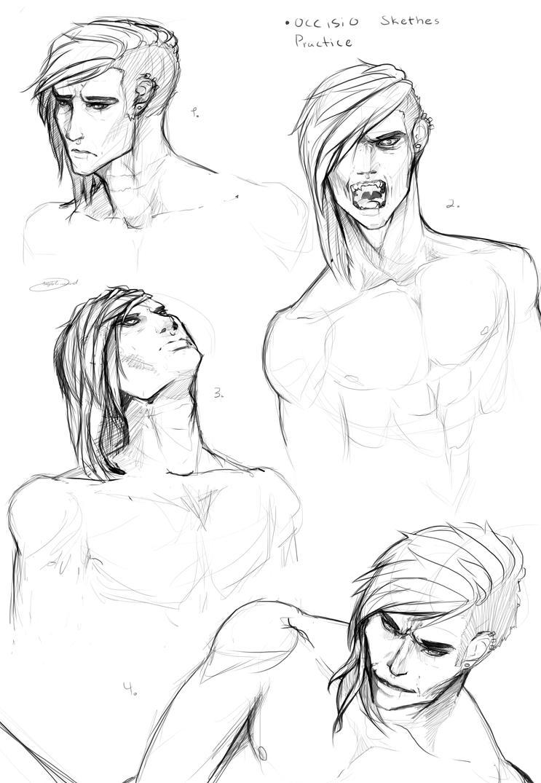 Occisio face practice sketch by Skerppla