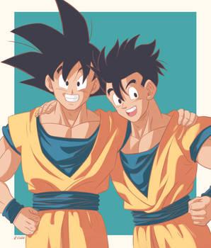 Son Goku and Son Gohan