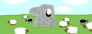Sheep Field by blakrosebleedinheart