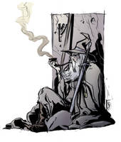 smokin' gandalf color by MrHarp