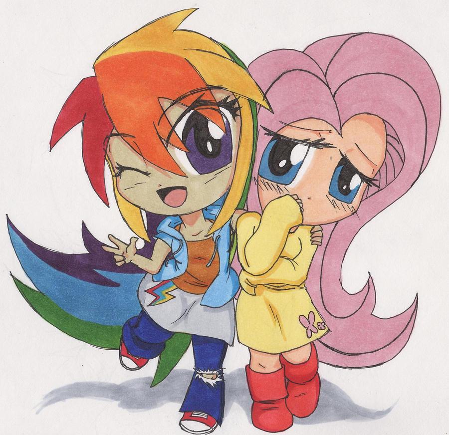 Rainbow Dash And Fluttershy Human Kiss   www.imgkid.com ...