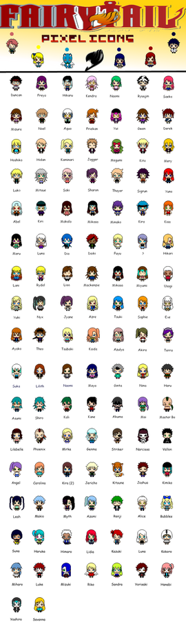 Fairy Tail RPC: OC Pixel Icons! (OPEN)
