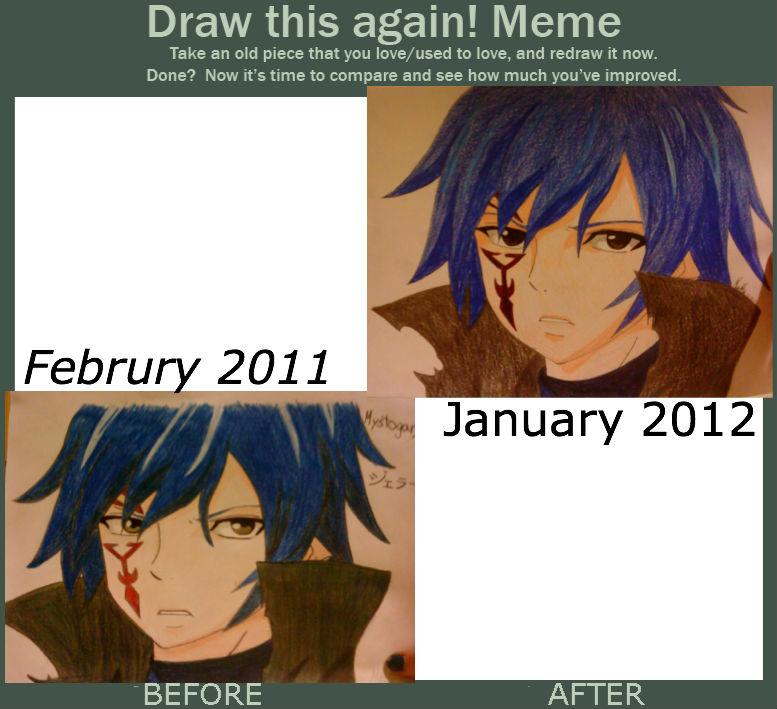 Draw This Again Meme Mystogan Fairy Tail X3 By Martha1101 On