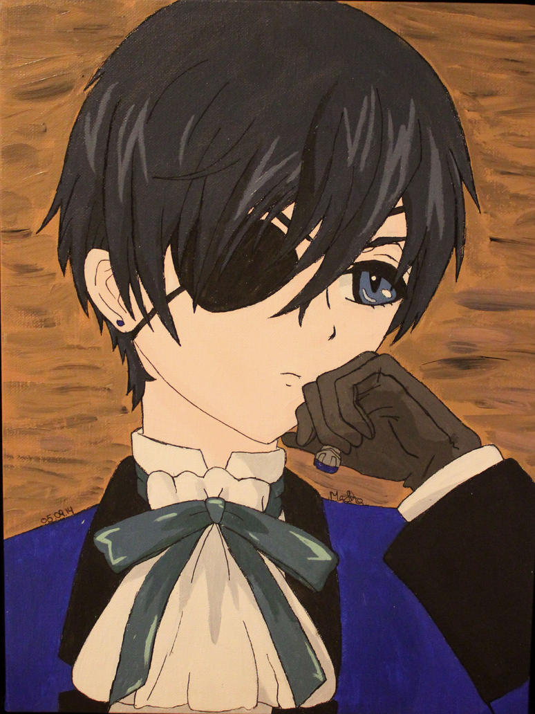 Painted Ciel Phantomhive by martha1101