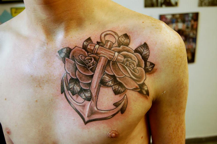 Anchor and roses for Shane.