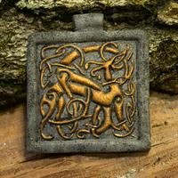 Celtic Twining Dogs Pendant by phacelia