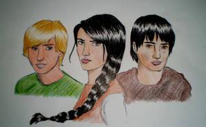 Peeta, Katniss, Gale by Miss-Ami