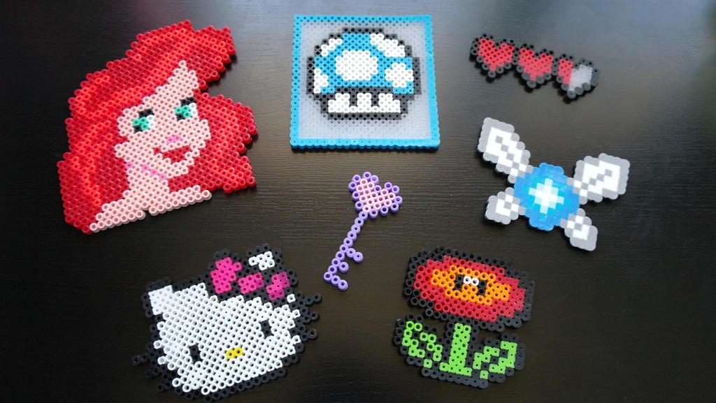 perler bead crafts 1 by melancholyskies on deviantart