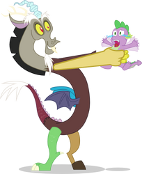 Discord Catches Spike by mattyhex