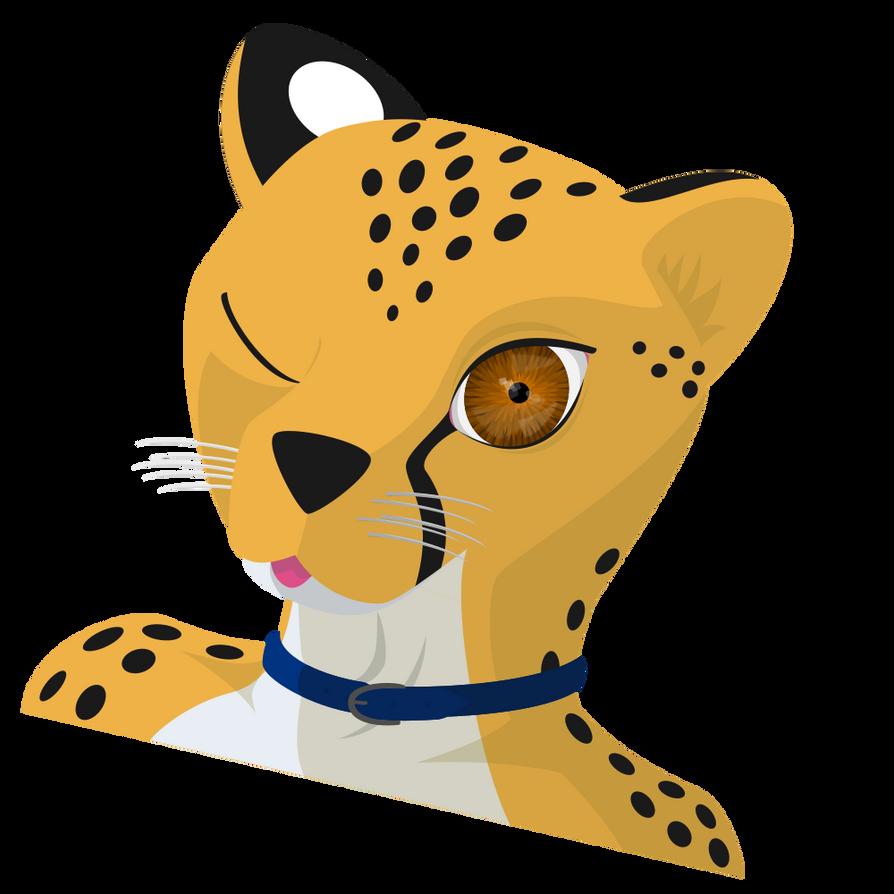 Cheetah Wink by mattyhex