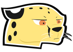 Grumpy Cheetah Sticker