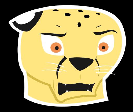 'Urgh' Cheetah Sticker by mattyhex