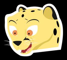 Happy Cheetah Sticker