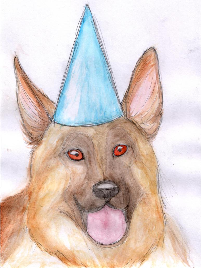 Birthday Dog by mattyhex