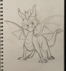 Spyro Sketch by mattyhex