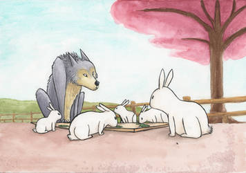 The Wolf Who Came For Tea