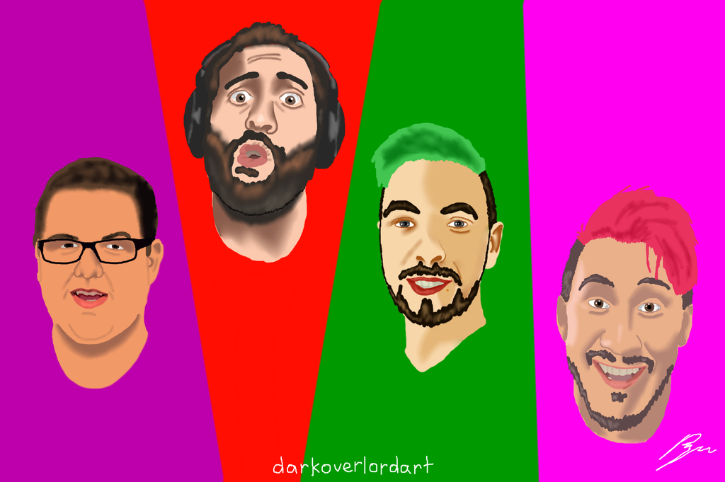 Markiplier and Friends (without names) by Koragg1