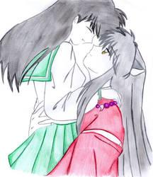 inuyasha y kagome by Lhilou-crystal-doll