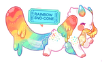 Rainbow Sno-Cone