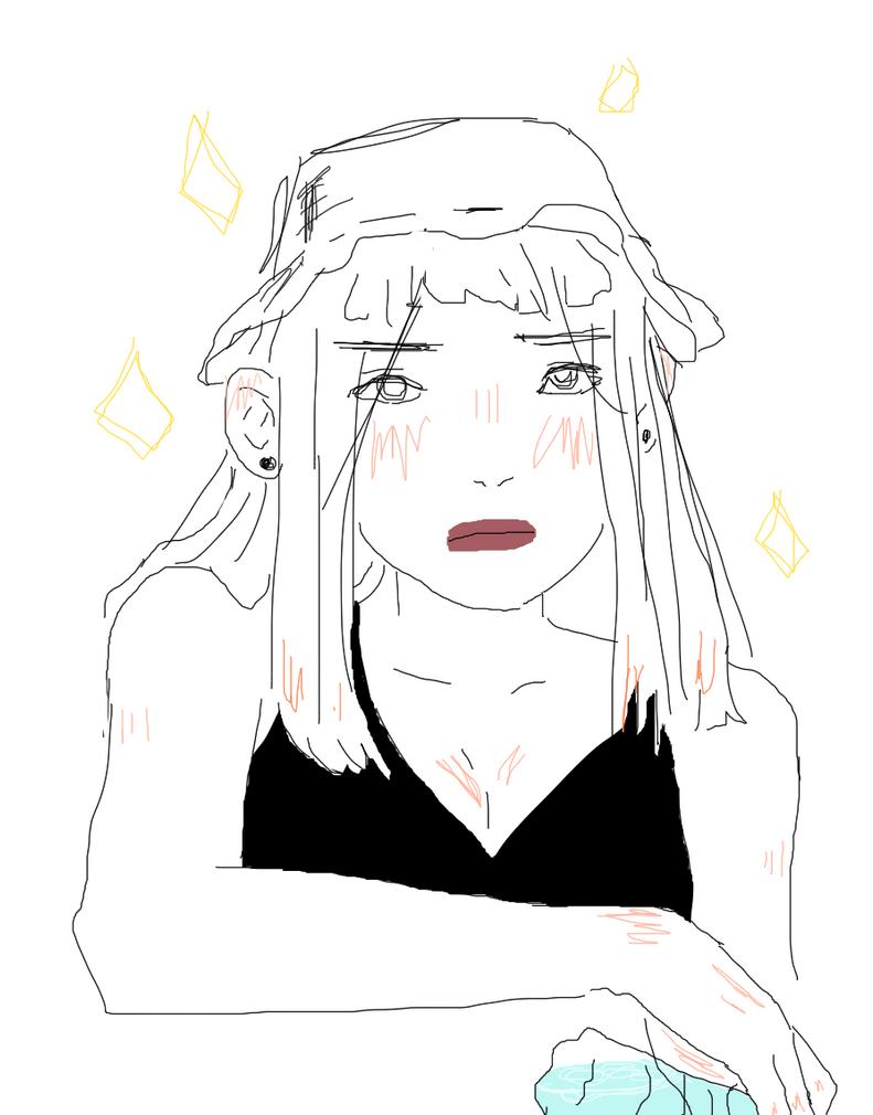 i lost my stylus HAHA // unIMPRESSEDFACE by Kazuko15