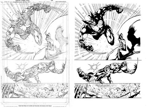 Wolverine - test- orig. + ink
