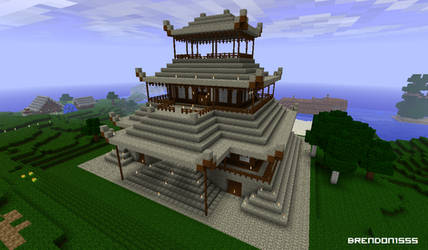 Minecraft Temple by brendon1555