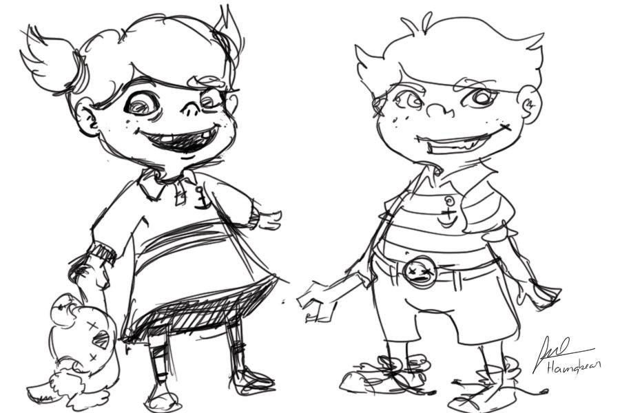 bad kids sketch by hamabear - Sketch Images For Kids