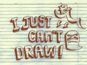 i just can't draw