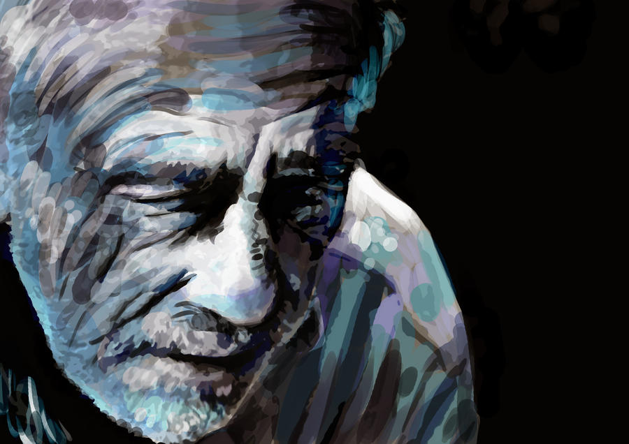Old man, digital painting by RkChimaira