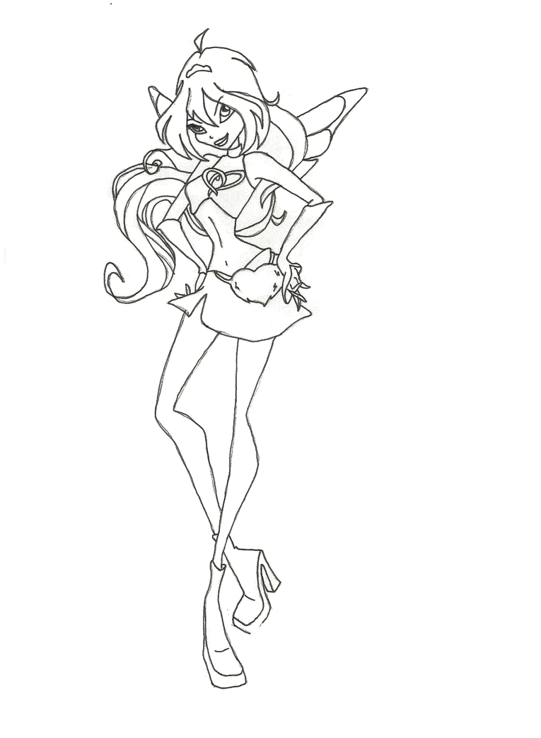 Winx Club Charmix Bloom Coloring Page By Winxmagic237 On
