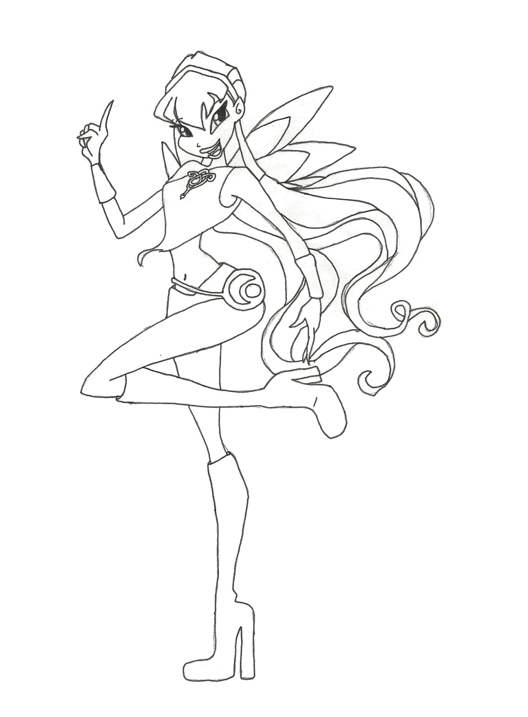 Winx club charmix stella coloring page by winxmagic237 on for Winx stella coloring pages