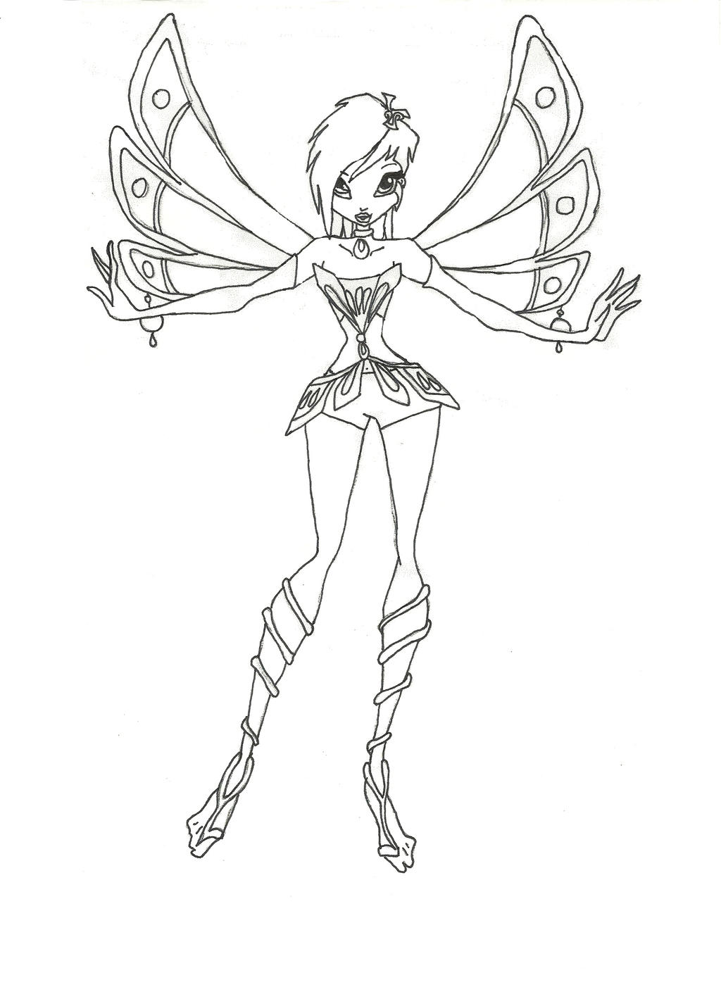 Free printable winx club coloring pages - Winx Club Enchantix Tecna Coloring Page By Winxmagic237