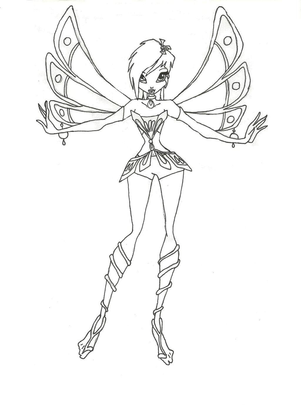 Winx Club Enchantix Tecna coloring - 126.5KB